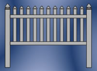 Fairmont Straight Picket Fence